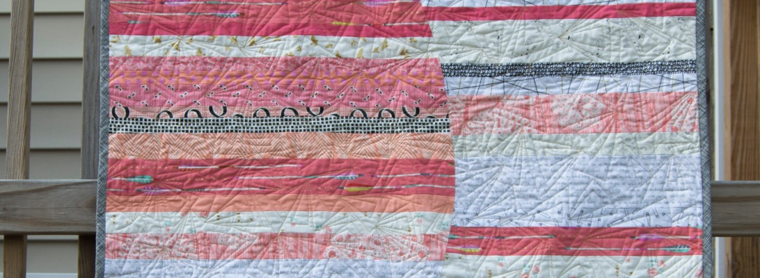 Large Improv Curve baby quilt by Smiles Too Loudly